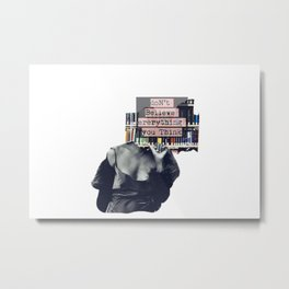 The voices of self-doubt Metal Print