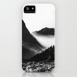 Mountain Valley Glacier National Park iPhone Case