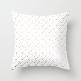 Simply Arrows in Rose Gold Sunset Throw Pillow