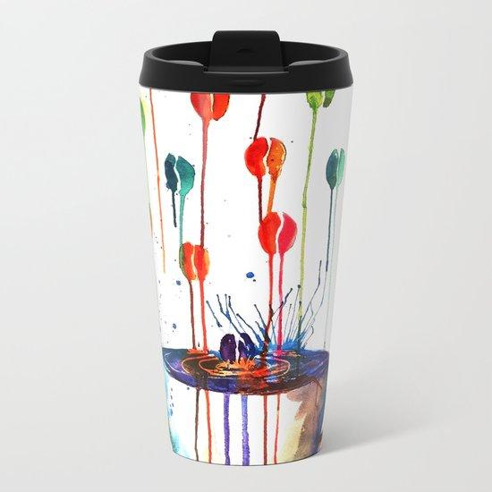 Coffee Splash Metal Travel Mug