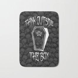 Think Outside The Box Goth Coffin Humour Bath Mat