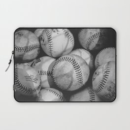 Baseballs in Black and White Laptop Sleeve
