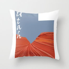 Utah: The Wave Throw Pillow