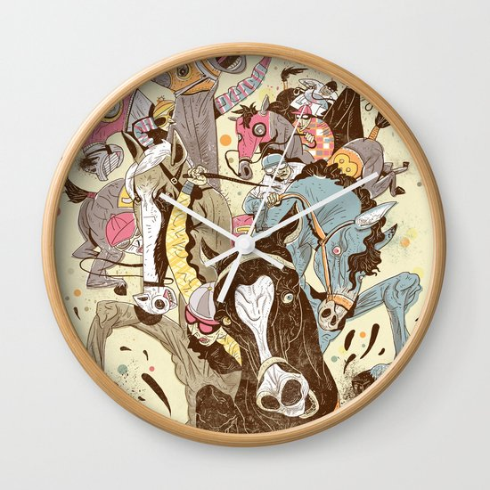 The Great Horse Race! Wall Clock