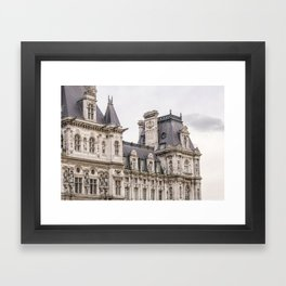 Paris Hotel de Ville Framed Art Print