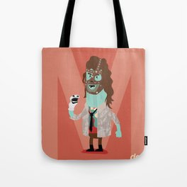 Alphabet Wrestlers - Mankind Tote Bag