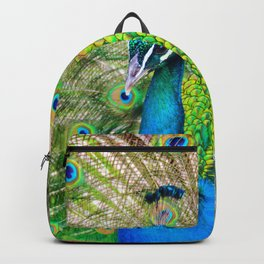 Beautiful Peacock (Color) Backpack
