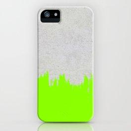 Brushstroke on Concrete - Neon Green iPhone Case