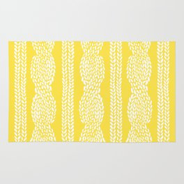 Cable Row Yellow Rug