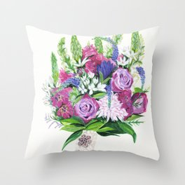 Natalie's Bouquet Throw Pillow