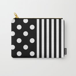 TEXTILES (BLACK-WHITE) Carry-All Pouch