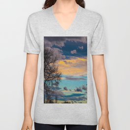 Colorful Colorado Sunset Unisex V-Neck