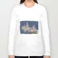 hogwarts Long Sleeve T-shirts featuring Hogwarts Painting  by Christina Brunnock