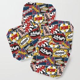 Modern Comic Book Superhero Pattern Color Colour Cartoon Lichtenstein Pop Art Coaster