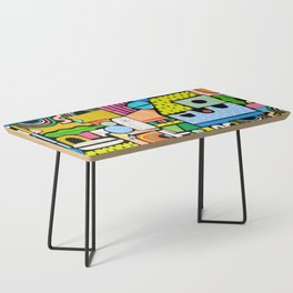 Color Block Collage Coffee Table