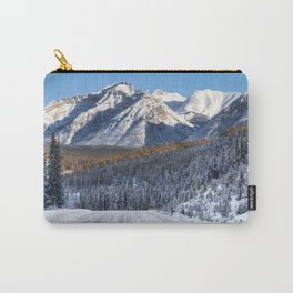 Winter Wonderland - Road in the Canadian Rockies Carry-All Pouch