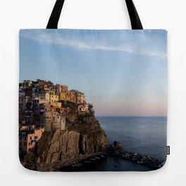 Manarola,Italy at Sunset Tote Bag