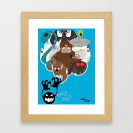 Monster Talk Framed Art Print