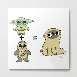 The origin of pugs Metal Print