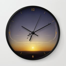 Sunset over Sussex Wall Clock