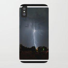 Lightning in Lovington New Mexico iPhone Case