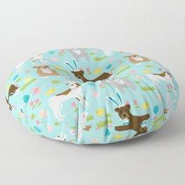 Pitbull easter dog breed pet patter rescue dog pibble lovers spring easter eggs Floor Pillow