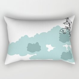 Dog on the katy cloud trail. Joy in the clouds collection Rectangular Pillow
