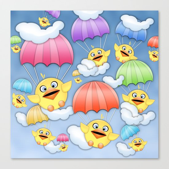 In Coming Birdies.  Canvas Print