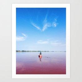 The Pink Lake Print Art Print
