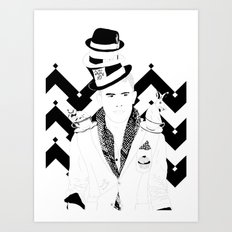 Alice in Wonderland Series - It's always tea time Art Print