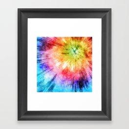 Tie Dye Watercolor Framed Art Print