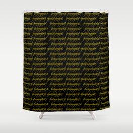 Elvish // Gold & Black Shower Curtain