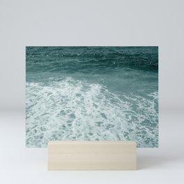 Sea Foam Monochrome Mini Art Print