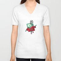 bmo V-neck T-shirts featuring BMO Soccer by AbigailC