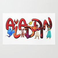 aladdin Area & Throw Rugs featuring Aladdin  by Mix-Master