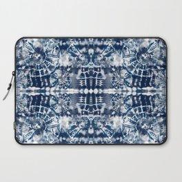 Blue Tie-Dye Spiral Stripe Laptop Sleeve