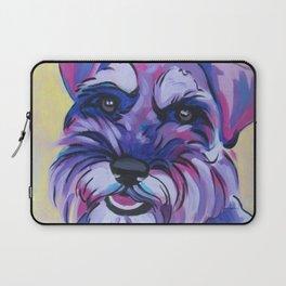 Schnauzer Pop Art Pet Portrait Laptop Sleeve