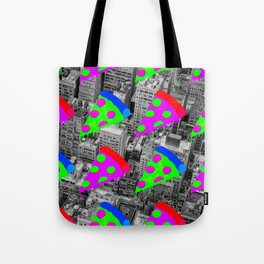 Pizza Invasion NYC Tote Bag