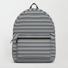 Benjamin Moore Hale Navy Blue Gray Triple Horizontal Stripes on Color of the Year 2019 Metropolitan Backpack