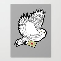 hedwig Canvas Prints featuring Hedwig by AriesNamarie