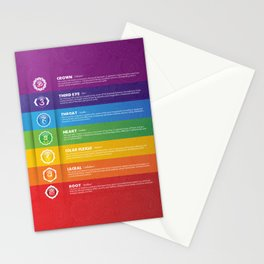 7 Chakra Chart & Symbols #17 Stationery Cards