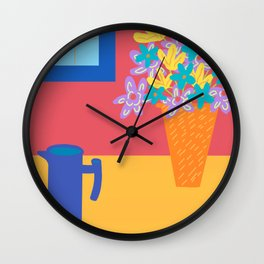 Bonjour Coffee  Wall Clock