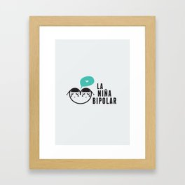 La niña bipolar Framed Art Print