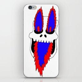 Fire skull iPhone Skin