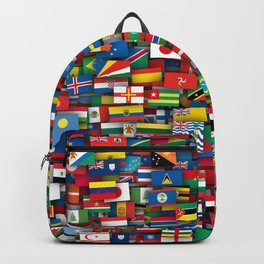 Flags of all countries of the world Rucksack