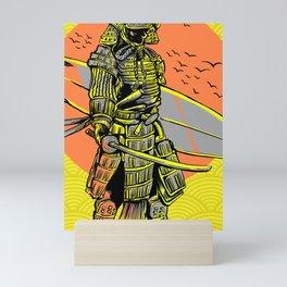Samurai Surfer, Brave Surfing Mini Art Print