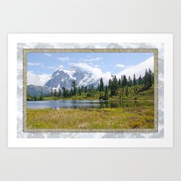 MOUNT SHUKSAN ONE AUGUST DAY Art Print