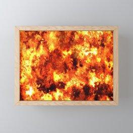 FIRE STORM. Framed Mini Art Print