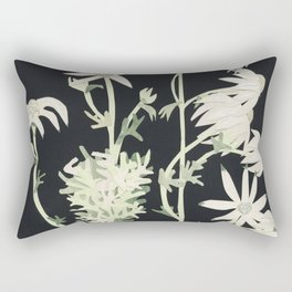 Flannel Flowers Rectangular Pillow