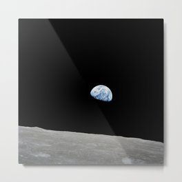 Apollo 8 - Iconic Earthrise Photograph Metal Print
